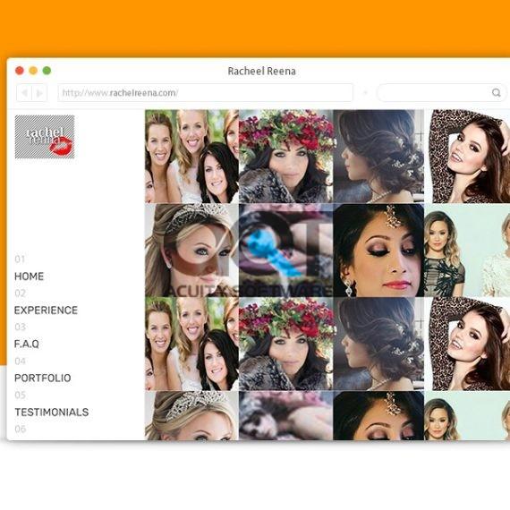 Rachel Reena Website Design