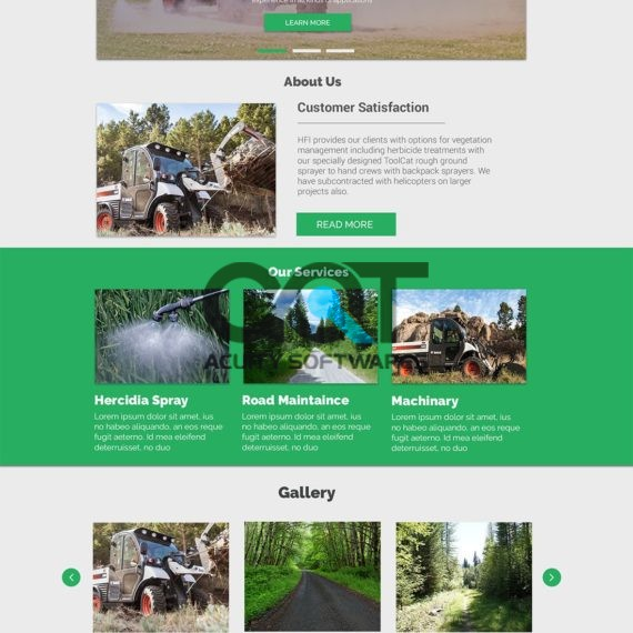 HFI Field Services Website Design