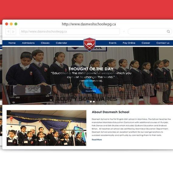 Dasmesh School Website Design