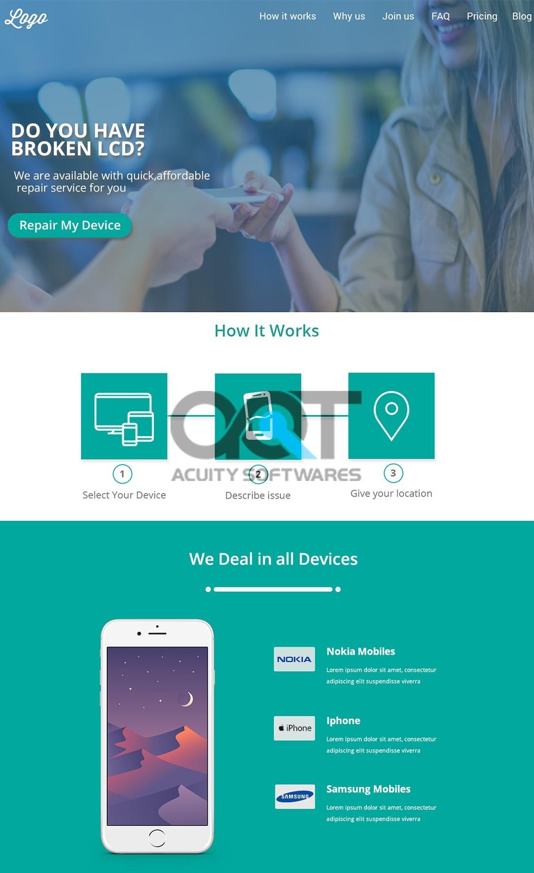 LCD Repair Website Design